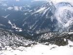 Pohled ze Sněžky na okolní hory